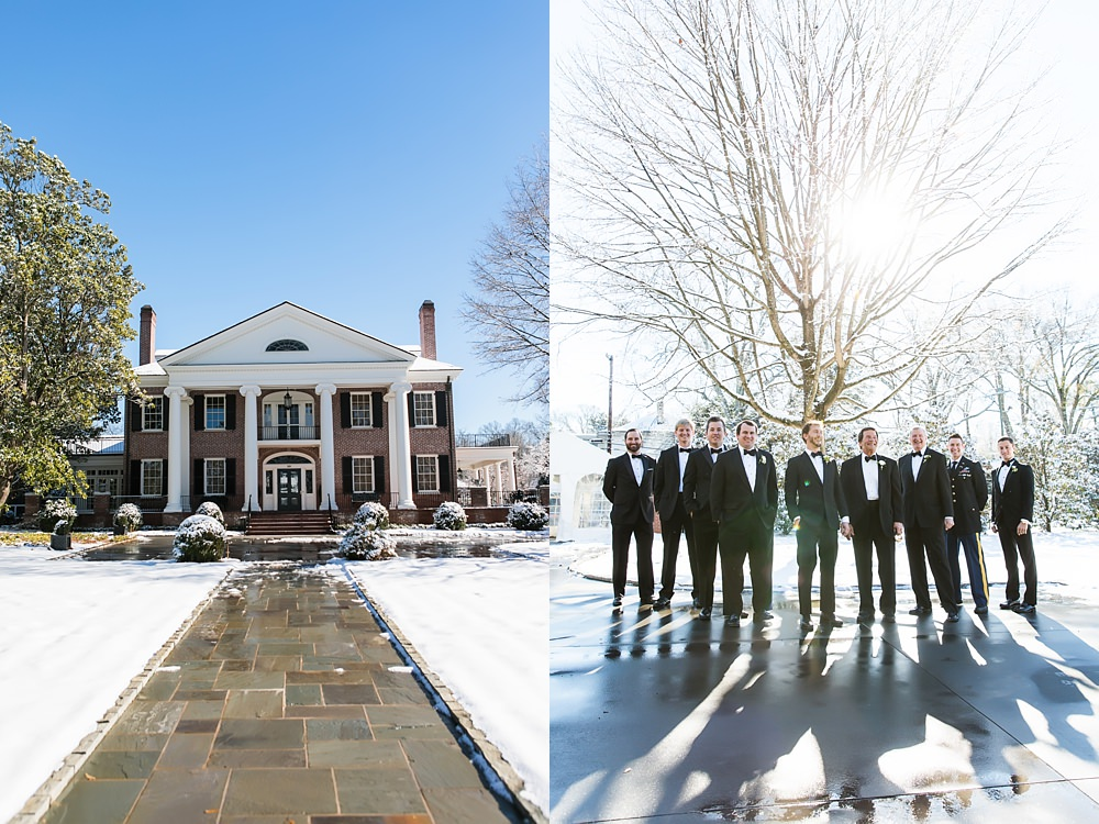 vue photography : snowy wedding : oliver hooper events : modfete 0009