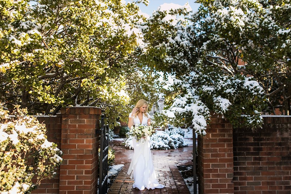vue photography : snowy wedding : oliver hooper events : modfete 0011