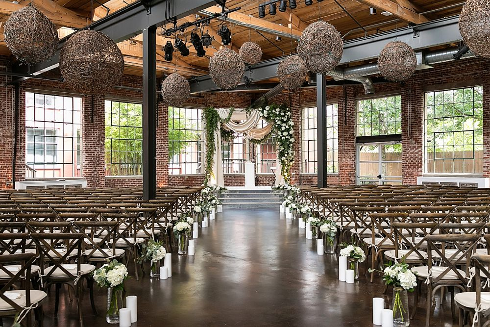 the foundry at puritan mill wedding : suzanne reinhard events : legendary events : vue photography : added touch catering0044