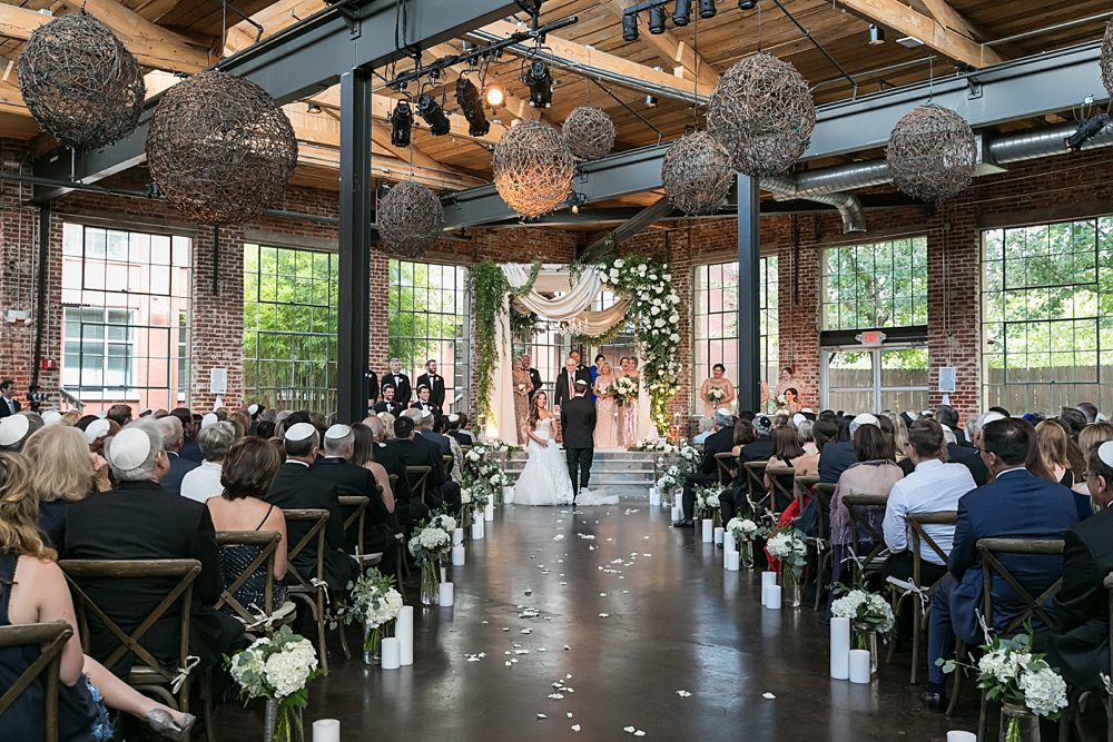 the foundry at puritan mill wedding : suzanne reinhard events : legendary events : vue photography : added touch catering0054