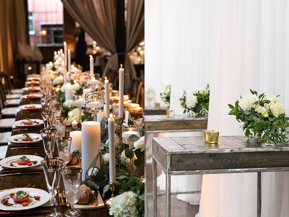 the foundry at puritan mill wedding : suzanne reinhard events : legendary events : vue photography : added touch catering0089