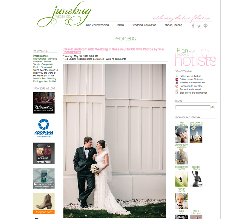 mentions: Junebug weddings