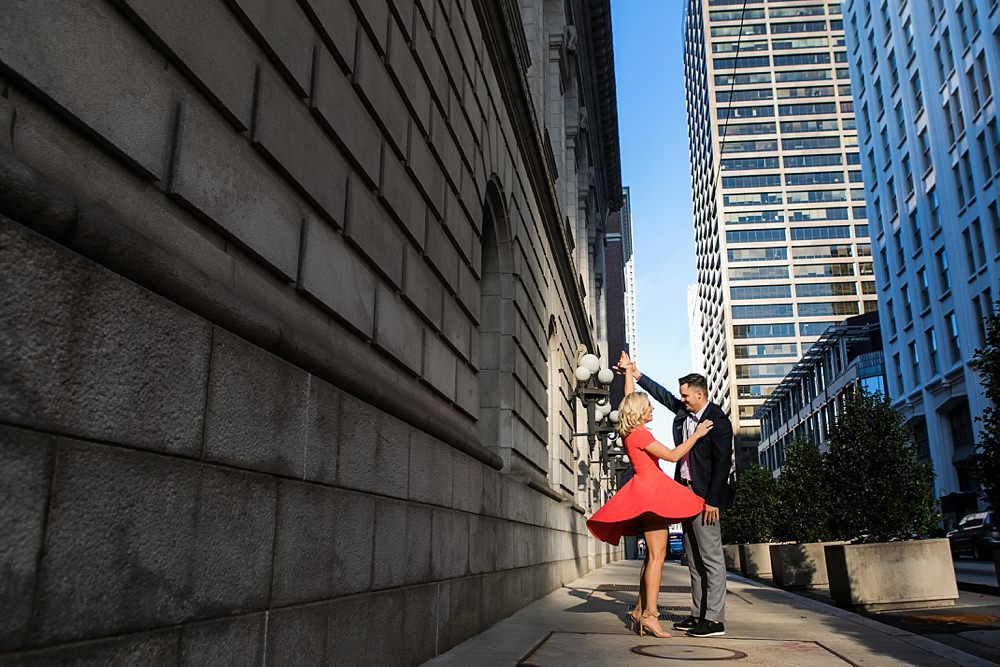 atlanta engagement session : vue photography : silly string : downtown 0001