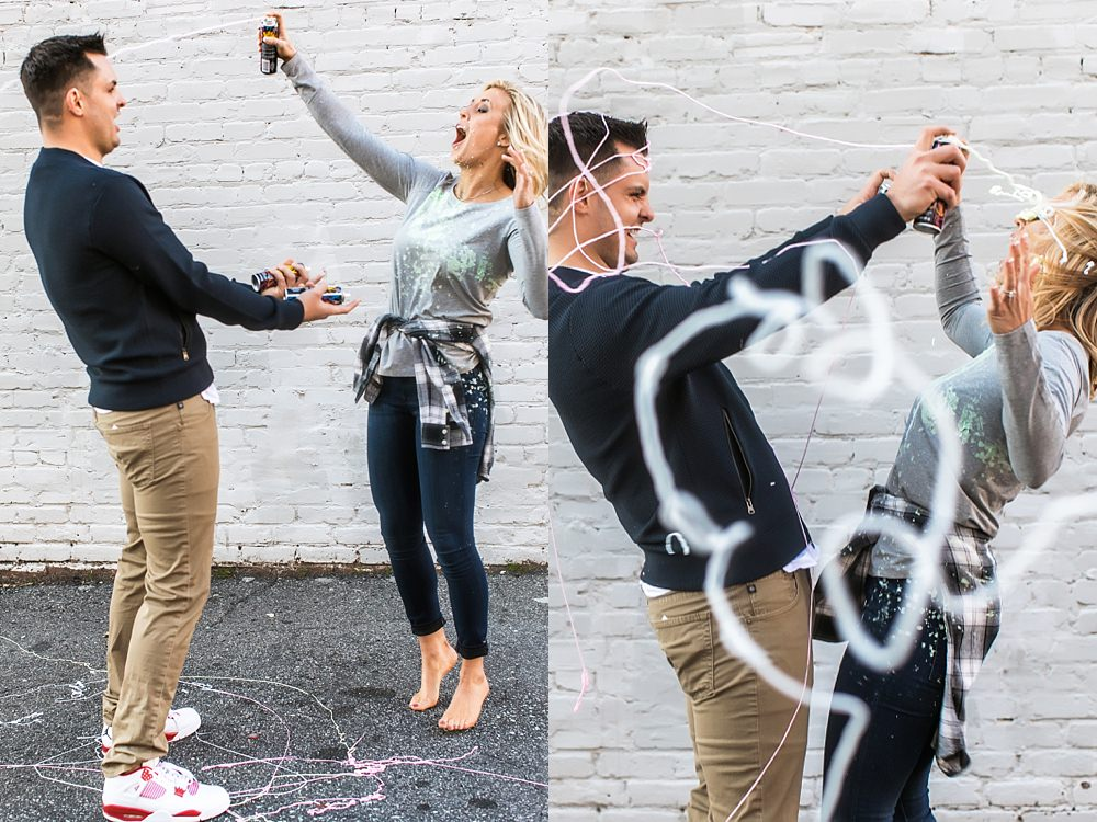 atlanta engagement session : vue photography : silly string : downtown 0005