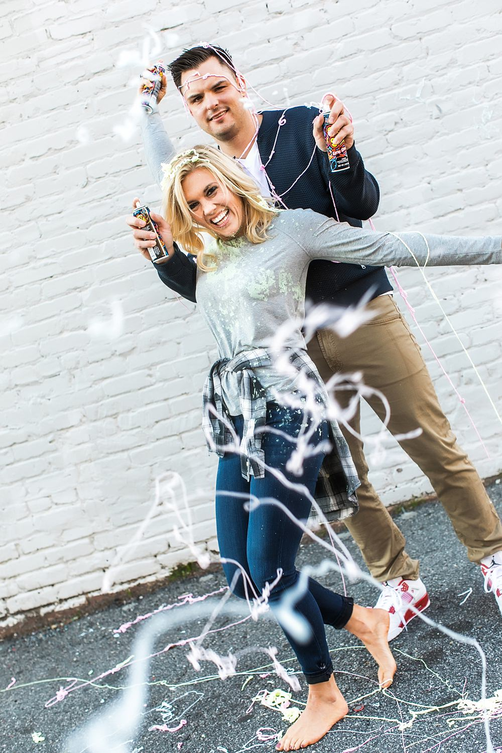 atlanta engagement session : vue photography : silly string : downtown 0016