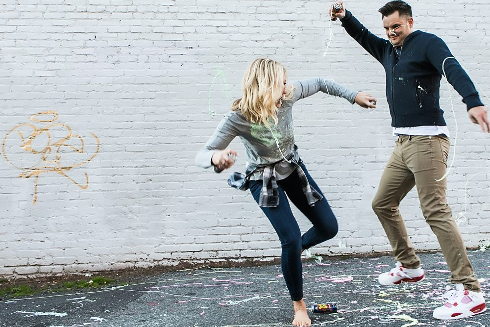 atlanta engagement session : vue photography : silly string : downtown 0041